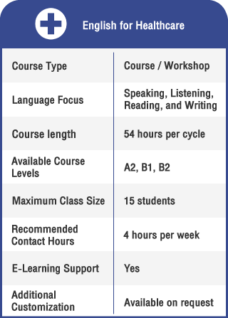 Anglokom Corporate Language Training Bangkok - English for Healthcare